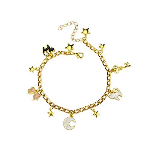 MGMDIAN 2 Anime Sailor Moon Bow Knot Star Star Moon Colgante Accesorio Accesorio Pulsera