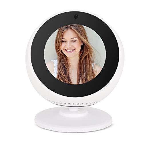 Echo Spot Stand, Regola l'eco Verso l'alto e Verso il basso Regolazione Dell'angolo di Visione Multipla Rotazione di 360°, Supporto per Staffa con Base Magnetica per Amazon Echo Spot (Bianco)
