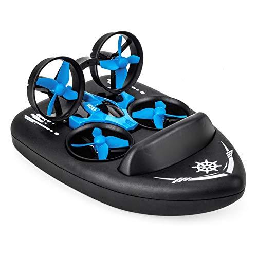 Mini dron para niños, barcos teledirigidos para piscinas y lagos, coche RC 3 en 1, modo de mar terrestre, impermeable, aerosdeslizador, juguete RC cuadricóptero – 3 x XPiles