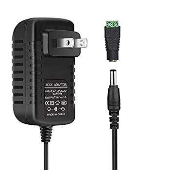 inShareplus 5V 1A 5W Power Supply AC 100-240V to DC 5V AC Adapter Transformer Power Adapter with 5.5/2.1mm DC Female Barrel Connector for LED Strip Lights Audio/Video Wireless Router