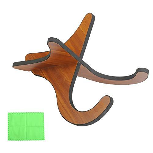 OPPRES 1 PCS Supporto per Ukulele Mandolino Chitarra Violino Banjo Stand per Chitarra Acustica Elettrica Basso Musicali Strumenti Accessori Supporti Pieghevole con 1 Pezza per Pulire