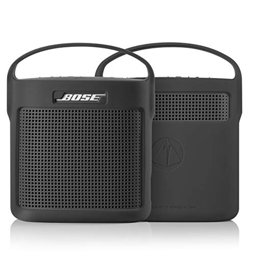 TXEsign Protective Silicone Stand Up Case with Handle for Bose SoundLink Color Bluetooth Speaker II (Black)