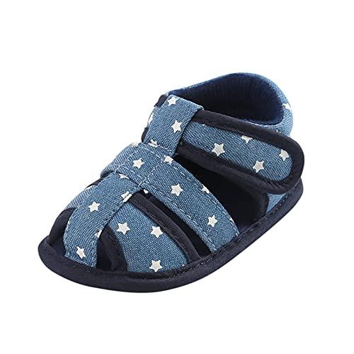Sandalen Baby Jungen Mädchen Hausschuhe Lauflernschuhe Klettverschluss Krabbelschuhe Kinder Sommer Sandalen Weiche Anti-Rutsch Star Babysandalen Kleinkindschuhe