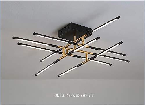 Springhua Series de superficie Lámparas de techo de oro iluminación de la lámpara for Estudio Sala de estar Cocina 110V 220V nórdica Loft for el hogar (Emitting Color : Brightness Dimmable)