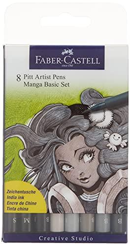 Faber-Castell 167107 Feutre PITT artist pen Manga étui de 8