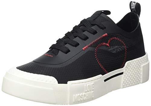 Love Moschino Damen Sneakers New Tassel Gymnastikschuh, Schwarz, 40 EU
