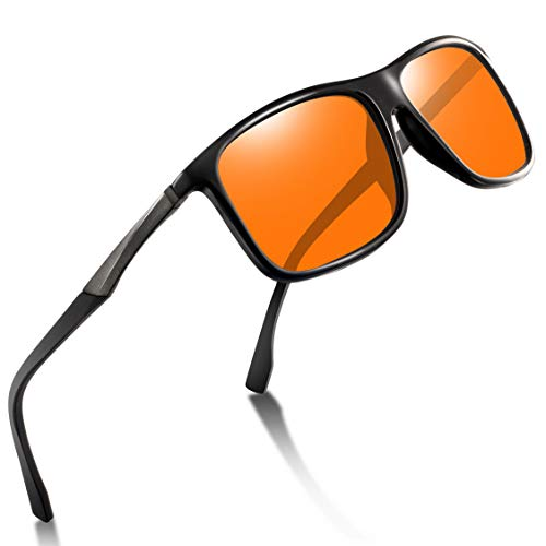 wearPro Sports Sunglasses Man - Polarized Sports Sunglasses for Men Women Driving Fishing Cycling Travel Mirrored Eyewear (orange)