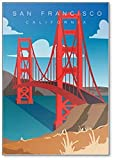 Kühlschrankmagnet Golden Gate Bridge in San Francisco,