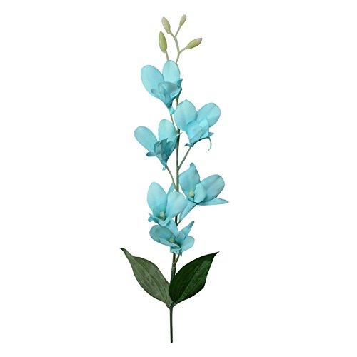 Verlike Künstliche Orchideen, Kunstblume für Hochzeit, Büro, Party, Hotel, Restaurant, Terrasse oder Hof, Dekoration blau