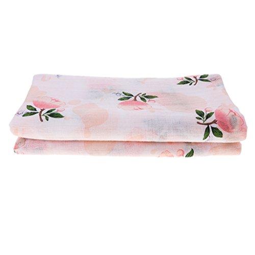 B Blesiya Manopla de muselina para bebé, manta para pañales, paños de gasa, paños para vómitos, rosa