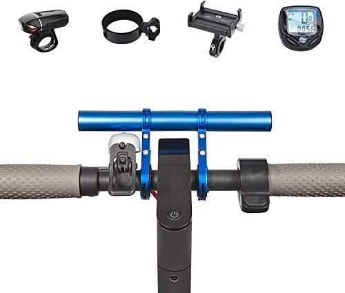 SOULBEST Manillar Bicicleta Extensor - Barra de extensión de Manillar para Bici,Soporte de Extensión con Abrazaderas Dobles para Luz de Bicicleta MTB, GPS,Teléfono,Velocímetro