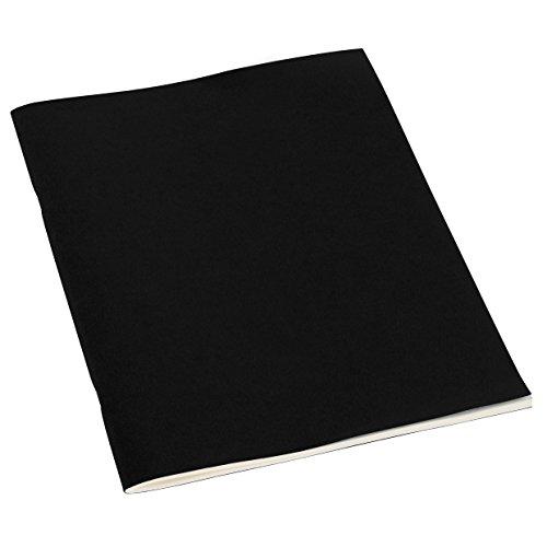Semikolon (351841) Filigrane Heft liniert A4 black (schwarz) - Schulheft mit 32 Blättern - 64 Seiten aus cremefarbenem 100 g/m2-Papier