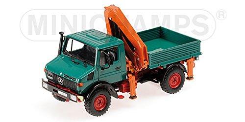 Mercedes-Benz Unimog 1300 L Kipper mit Ladekarn (Tipper with loading crane) green