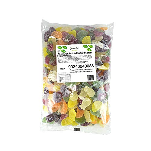 Pimlico Vegetarian Fruit Flavoured Fruit Shaped Jelly Sweets - 1kg