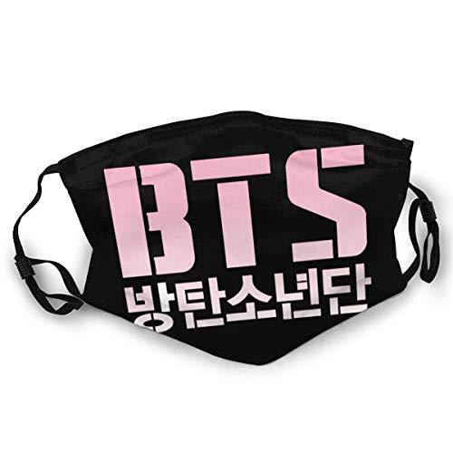 BTS Mundschutz Schützen Sie Bequeme atmungsaktive Sicherheit Luftnebel Outdoor Fashion Half Face Shield - für Mann und Frau