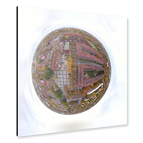 artboxONE Alu-Print 40x40 cm Straßburger Platz in HH-Dulsberg von Künstler Dienstleistungsdrohne.de
