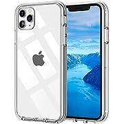 Whew Crystal Clear iPhone 11 Pro Hülle, [Transparent Anti-Gelb] Hard PC & Soft Silikon Ultra Hybrid iPhone 11 Pro Handyhülle Durchsichtig Silikon Schutzhülle Slim Case