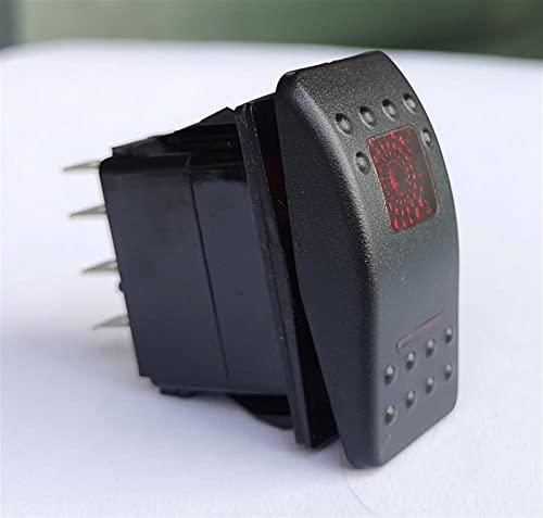 Relé de interruptor automotriz 12V 24V Impermeable Duple Blanco LED 5 Pin en Off Spor Spst Reemplazo Rocker Toggle Switch para Arb Carling Car Boat (Color : 5p on off red)