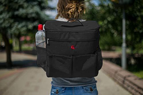 Multi Luiertas (Zwart) - als rugzak, schoudertas en als handtas te gebruiken | GoldBaby verzorgingstas