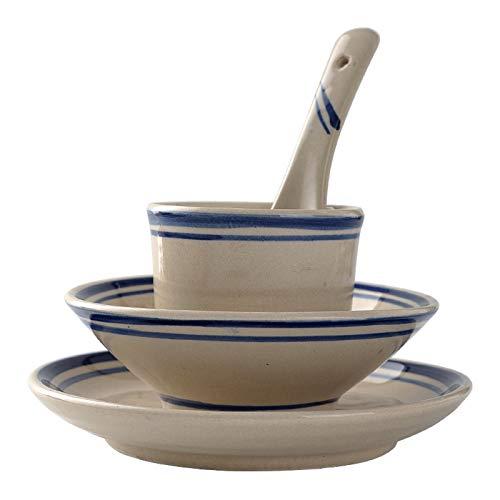 Vajillas combinadas Tazón de cuatro piezas de cuatro piezas, plato de hueso y placa de porcelana, conjunto de mesa de restaurante, mesa de vajilla, mesa de cerámica Juego de cuenco y plato