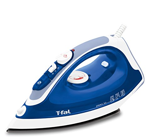 T-fal FV3756 Prima Steam Iron with Non-Stick Soleplate with Anti-Drip System, Blue
