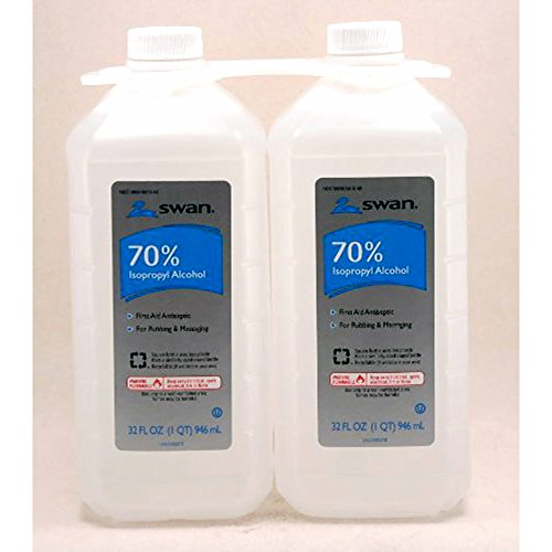 Swan 70% Rubbing Alcohol 2x32oz