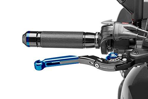 Puig 19ANA1238 Brems-Kupplungshebel DUC 899 Panigale (H8) 2014-2015 schwarz, Versteller blau, Schiebeelement blau, Knick-und verstellbar Set