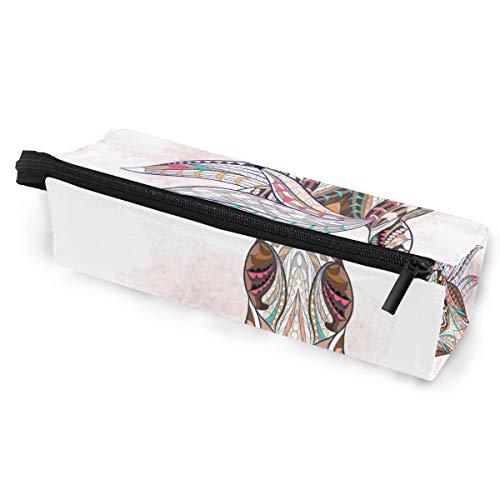Sonnenbrillenetui Federmäppchen Kunst Abstrakt Bunt Pferd Tier Schreibwaren Beutel Aufbewahrungsbox Kosmetiktaschen Brillenetui mit Aufhängeöse