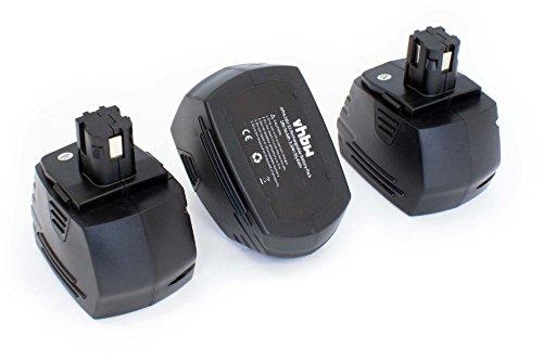 vhbw 3x NiMH batteria 3300mAh (18V) per strumenti attrezzi utensili da lavoro Hilti SFH181-A, SFH181A, SFL-18, SFL18
