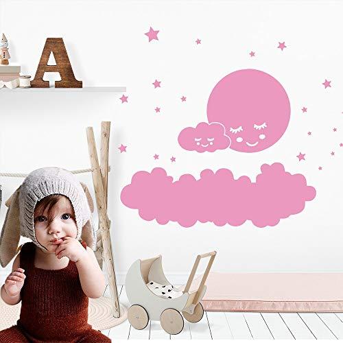 Dibujos animados creativos lindas nubes tmidas estrellas Luna beb habitacin calcomana vinilo pared pegatina nios habitacin de beb dormitorio decoracin Mural papel tapiz cartel regalo