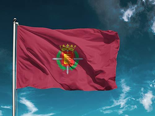 G I Bandera Valladolid   Medidas 150cm x 85cm   Fácil colocación   Decoración Exteriores (1 Unidad)