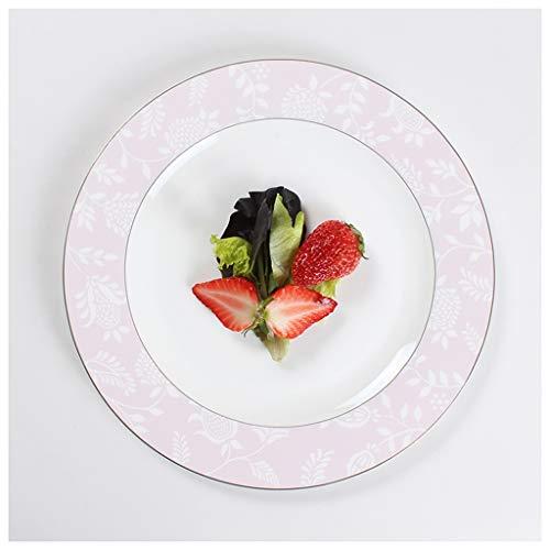 CJW Os européen léger de luxe en porcelaine - plat maison petit déjeuner collation western (Taille : 20.5cm)