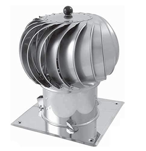 Kaminaufsatz drehbarer Kugelaufsatz Schornsteinaufsatz Lüftungsaufsatz Ofen Kamin Turbo (⌀150mm)