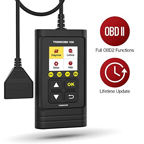 Thinkobd 100 OBD2 Scanner, Full OBD2 Functions Check Engine Code Reader CAN Diagnostic Scan Tool, Diagnostic Car Code Reader for Check Engine Light, Smog Test, Supports Mode6 O2 Sensor and DTC Lookup