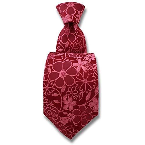 Robert Charles. Cravate. Florence, Soie. Rose, Fantaisie. Fabriqué en Italie.