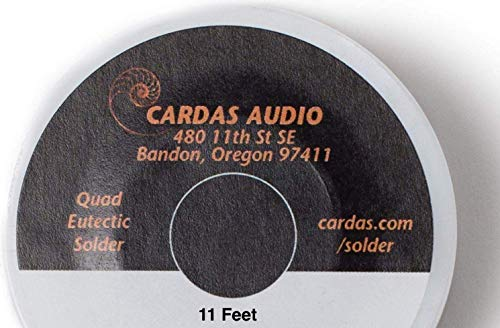 Cardas Soldering Wire Quad Eutectic Silver Solder With Rosin Flux 11 Feet