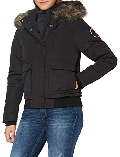 Superdry Womens Everest Bomber Jacket, Black, M (Herstellergröße:12)