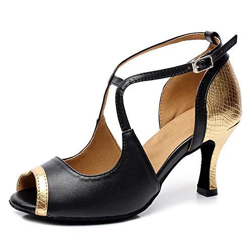 SWDZM Zapatos de Baile Latino salón de Baile de Tango,Salsa,Samba,Sandalias de Fiesta...