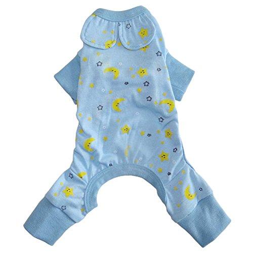 Zrong Vêtement de nuit / chemise de nuit/veste de pyjama/pyjama Barboteuse mignon en Coton 2 Couleurs pour Petit Chien