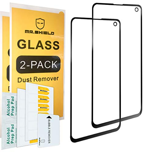 [2-PACK]-Mr.Shield Designed For Samsung Galaxy S10e [Tempered Glass] [Full Screen Glue Cover] Screen Protector with Lifetime Replacement