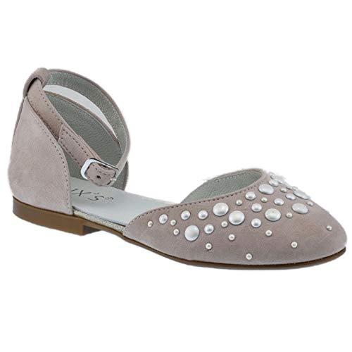 Guxs Zapato Gilda Perlas Rosa Empolvado