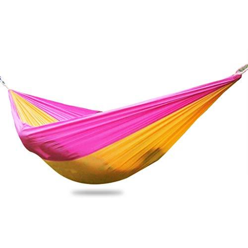 YANG Imperméable Hamac 250x140 cm Ultra léger Hamac de Camping 300 kg Capacité de Charge Boucle Durable de Haute qualité Portable et léger pour Jardin Camping Randonnée Pink-250X140cm