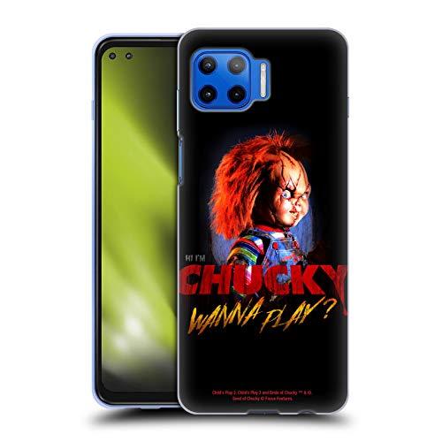 Head Case Designs Licenciado Oficialmente Child'S Play Quiero Jugar 2 Arte Clave Carcasa de Gel de Silicona Compatible con Motorola Moto G 5G Plus