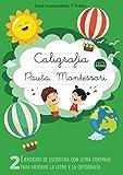 Caligrafía Pauta Montessori: Ejercicios de escritura con letra continua - Para mejorar la letra y la ortografía - Cuaderno pauta montessori 3.5mm (Cuaderno Caligrafia Niños)