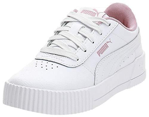 Puma Mädchen-Sneaker Carina L Ps, - weiß/pink - Größe: 28 EU