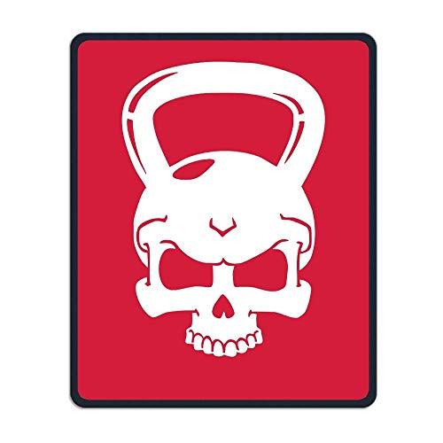 Kettlebell Skull Tragbares Gaming-Mauspad Komfortable rutschfeste Basis Langlebige genähte Kanten