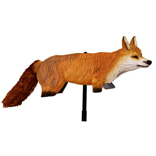 Bird-X 3D Hunting Fox Predator Decoy - Scares Small Animals, Turkey and Goose Repellent, Deer and Rabbit Deterrent, Pest Control Accessories, Yard Ornaments