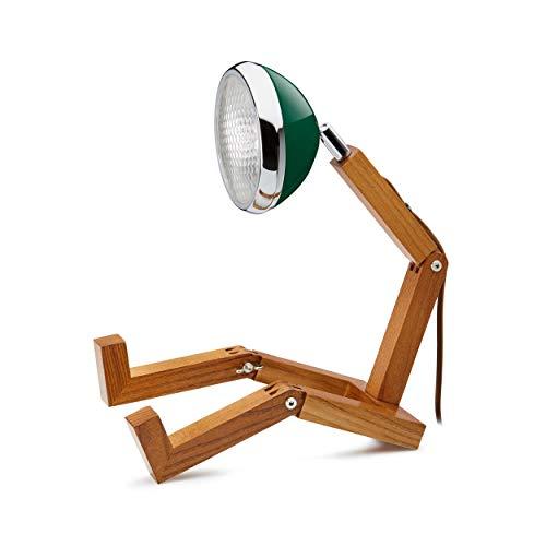 Mr. Wattson LED Tischlampe mit Oldtimer Scheinwerfer - Chiltern Green