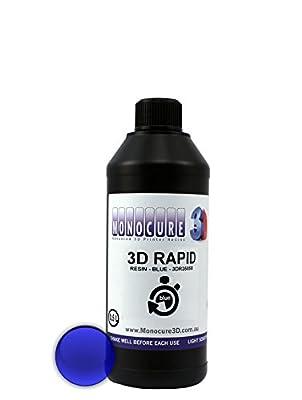 Monocure3D 3DR3585B-500 Rapid Resin, 500 mL, 17 oz, Blue