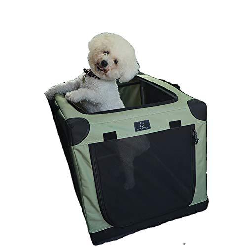 BZZBZZ Caja para Perros Suave de 3 Puertas para Mascotas, Plegable portátil para Interiores y Exteriores Gatos/Perros Viaje a casa con Bolsillo - Adecuado para Animales de hasta 30 kg